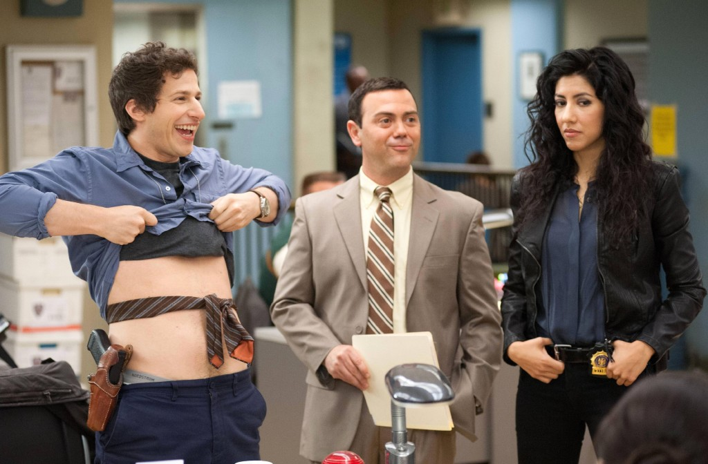 "Andy Samberg, Joe Lo Truglio and Stephanie Beatriz, ""Brooklyn Nine-Nine"""