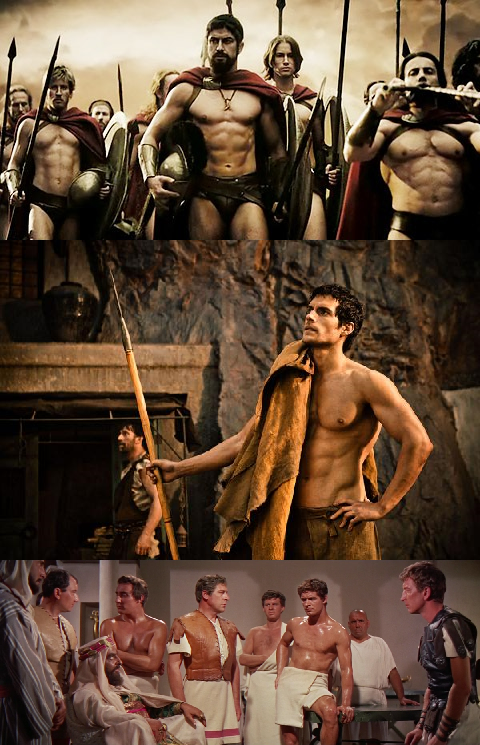300 (2006, re+-. Zack Snyder), Immortals. Bogowie i herosi (2011, re+-. Tarsem Singh), Ben-Hur (1959, re+-. William Wyler)